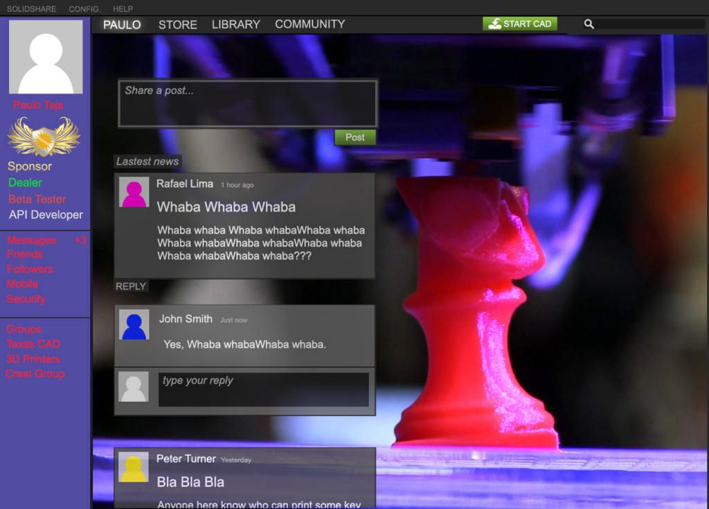 A Steam-like take on the CAD maker community