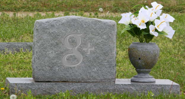 Here lies dear old Google Plus. Forgot to look both ways, got hit by a bus.